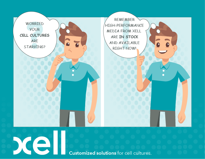 Cell culture media from Xell - in stock